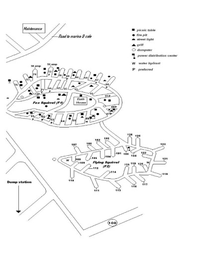 View Fox/Flying Squirrel Camp Map