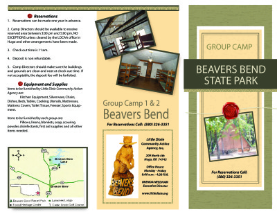 View Beavers Bend Group Camp Info