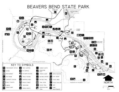 View Beavers Bend State Park Map
