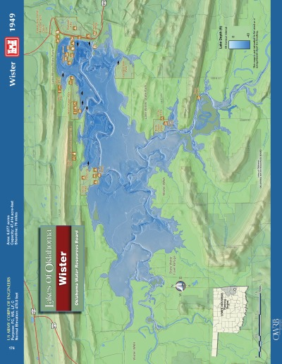 View Lake Wister Map